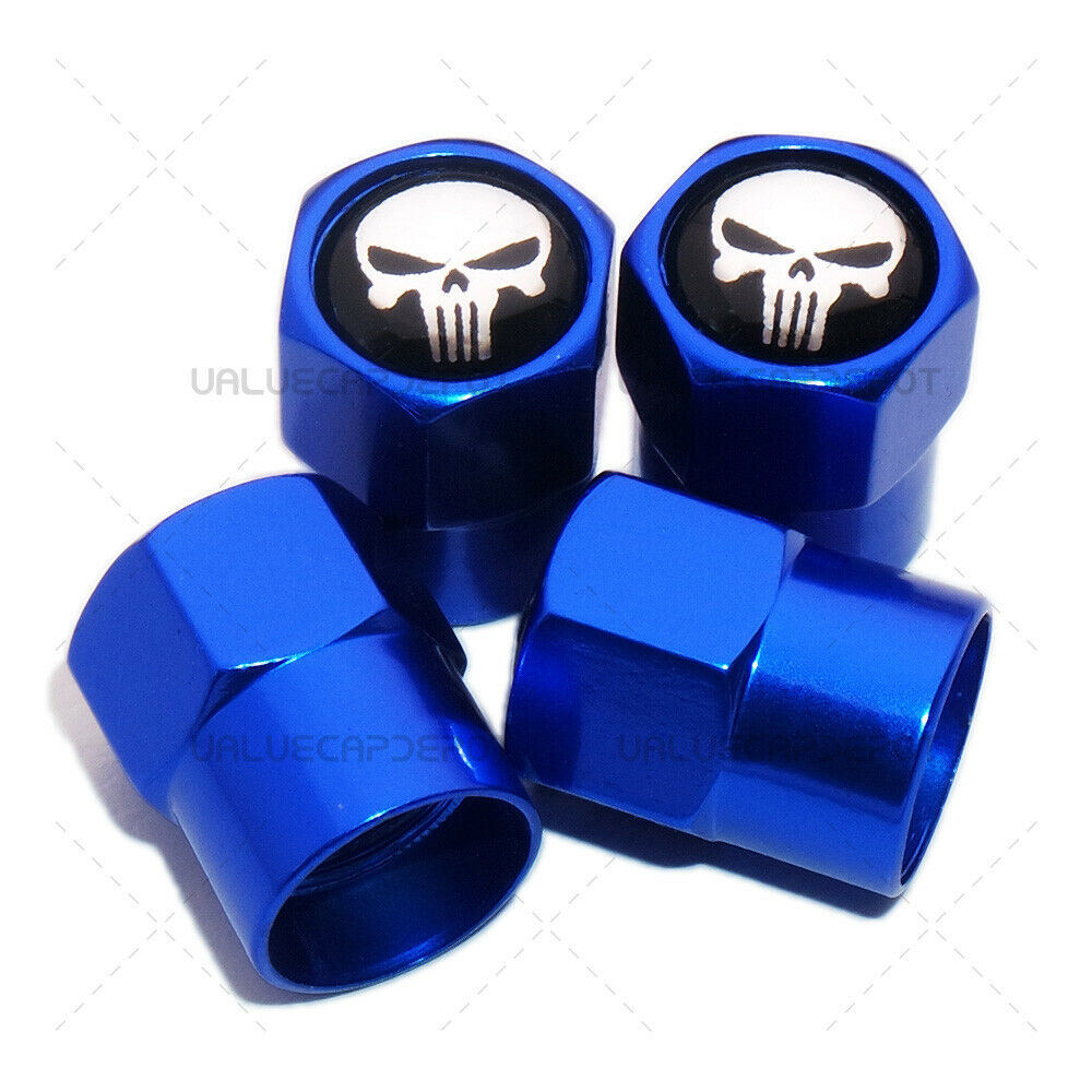 4-Pack Universal Hexagon Tire Wheel Stem Covers Dust Cap with Seal Ring for Car SUV Motorbike Truck Bicycle Football Logo Tyre Valve Caps
