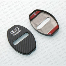 Load image into Gallery viewer, 2x Audi Carbon Fiber Texture Door Car Lock Protective Cover Sticker Decoration - US85.COM