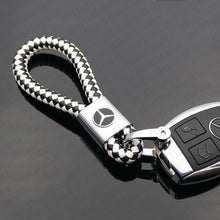 Load image into Gallery viewer, Universal Black & White Calf Leather Alloy Keychain Decoration Gift Accessories - US85.COM