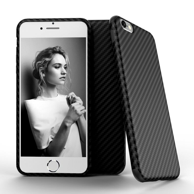 Carbon Fiber Texture Ultra-thin Back Soft Case Cover Apple iPhone 6 S Plus - US85.COM