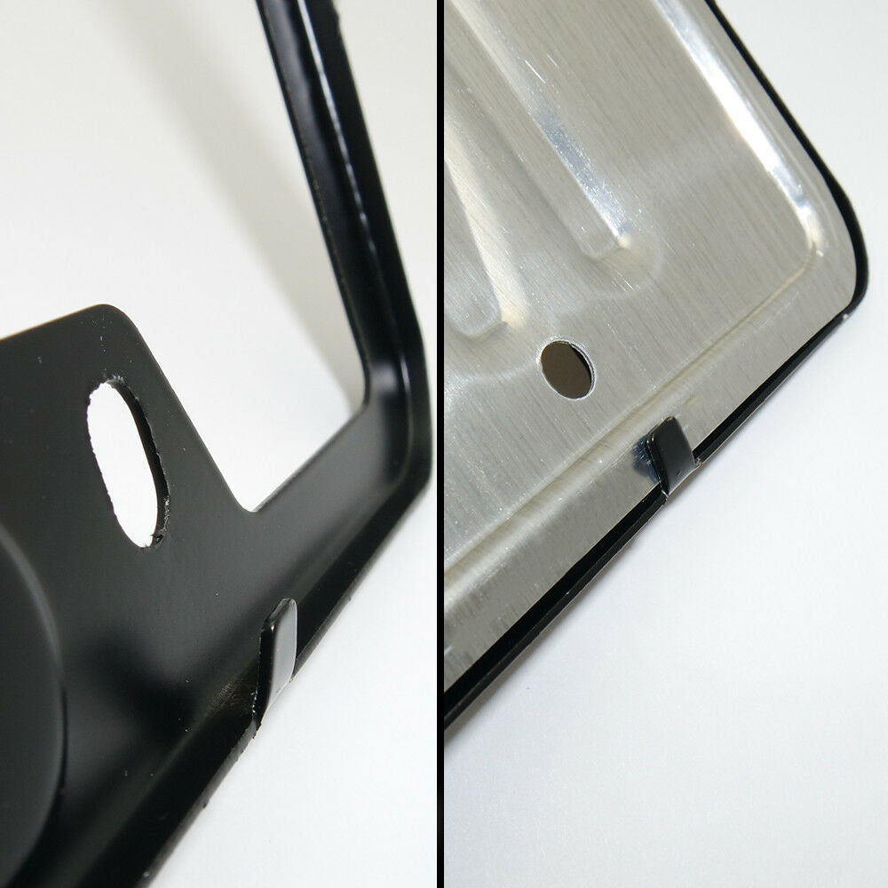 Black Stainless Steel Front Rear Emblem License Plate Frame Cover Gift - Volvo - US85.COM