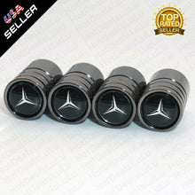 Load image into Gallery viewer, Black Chrome Wheel Tire Air Valve Caps Stem Valve Cover With Mercedes Emblem - US85.COM