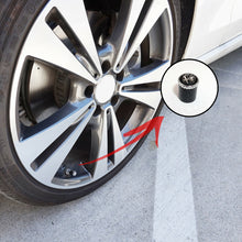 Load image into Gallery viewer, Carbon Fiber Car Wheel Tire Air Valve Caps + Keychain Stem Cover Alfa Emblem - US85.COM