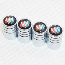 Load image into Gallery viewer, Silver Chrome Auto Car Wheel Tire Air Valve Caps Stem Cover With Buick Emblem - US85.COM