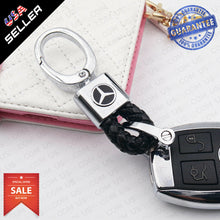 Load image into Gallery viewer, Universal Blk Star Calf Leather Alloy Keychain Ring Decoration Gift Accessories - US85.COM