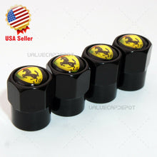 Load image into Gallery viewer, Black Hex Shape Ferrari S.p.A Logo Car Suv Wheels Tire Air Valve Caps Stem Cover - US85.COM