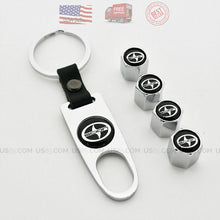 Load image into Gallery viewer, Silver CAR Wheel Tyre Tire Valve Dust Stems Air Caps Keychain With Scion Emblem - US85.COM