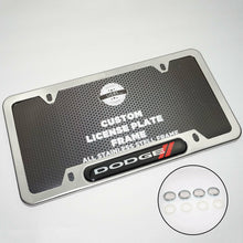 Load image into Gallery viewer, Chrome Stainless Steel Front Rear For Dodge License Plate Frame Cover Gift - US85.COM
