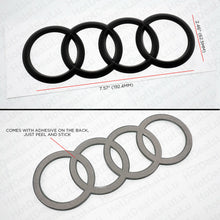Load image into Gallery viewer, AUDI Matte Black Trunk Luggage Lid Rings Badge Logo Emblem Decoration Modified - US85.COM