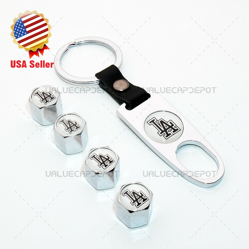 Universal Sport Car Wheel Tire Valve Dust Stem Air Cap Keychain LA Baseball Logo - US85.COM