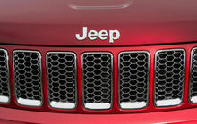Load image into Gallery viewer, Silver Chrome 3D For JEEP Hood Trunk Tailgate Emblem Logo Sticker Badge Set 2pcs - US85.COM