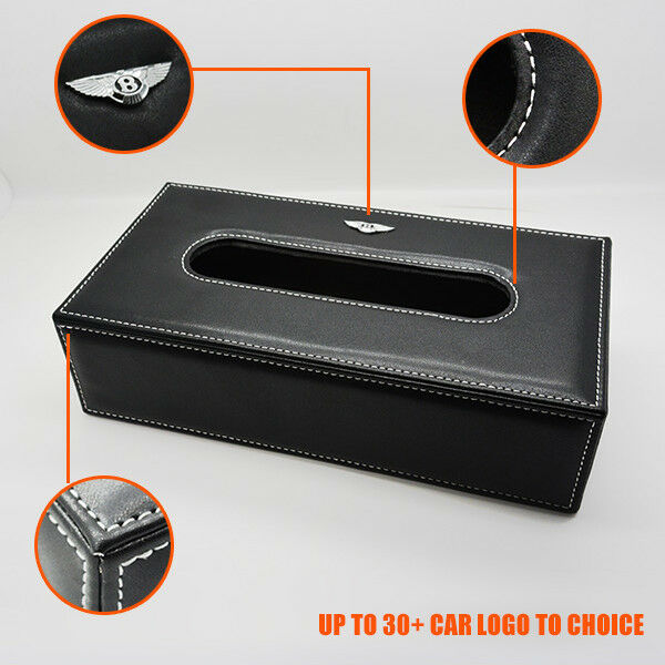 For Audi Leather Auto Car Tissue Box Cover Napkin Paper Holder Towel Dispenser - US85.COM