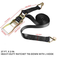 Load image into Gallery viewer, New Ratchet Tie Down Straps Heavy Duty Retractable Trailer Boat Hook Anchor 27ft - US85.COM