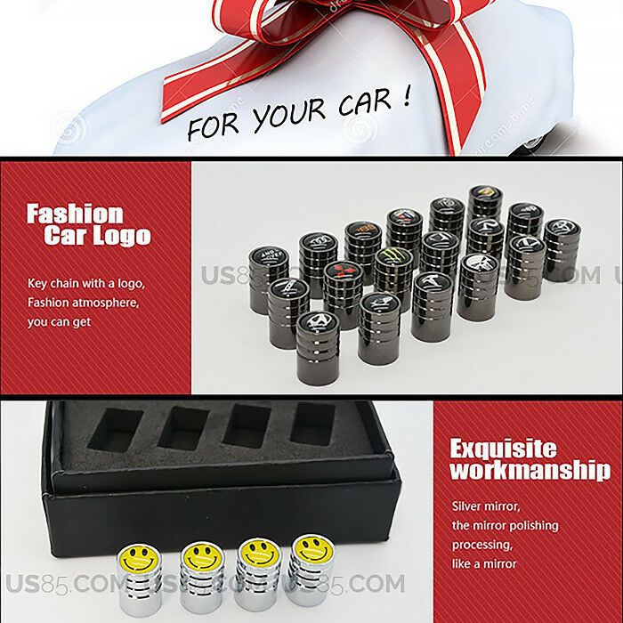 Chrome Wheels Tire Air Valve Caps Stem Valve Cover Scuderia Ferrari SF Emblem - US85.COM