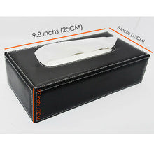 Load image into Gallery viewer, For Audi Leather Auto Car Tissue Box Cover Napkin Paper Holder Towel Dispenser - US85.COM