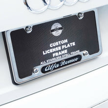 Load image into Gallery viewer, Chrome Stainless Steel Front Rear For Alfa Romeo License Plate Frame Cover Gift - US85.COM