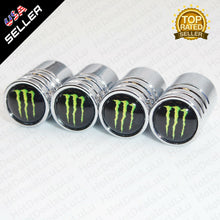 Load image into Gallery viewer, Silver Chrome Auto Car Wheel Tire Air Valve Caps Stem Cover With Monster Emblem - US85.COM