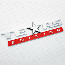 Load image into Gallery viewer, 3x Chrome Red TEXAS Edition Logo Emblem Badge Stickers Chevrolet Decoration TEAS - US85.COM