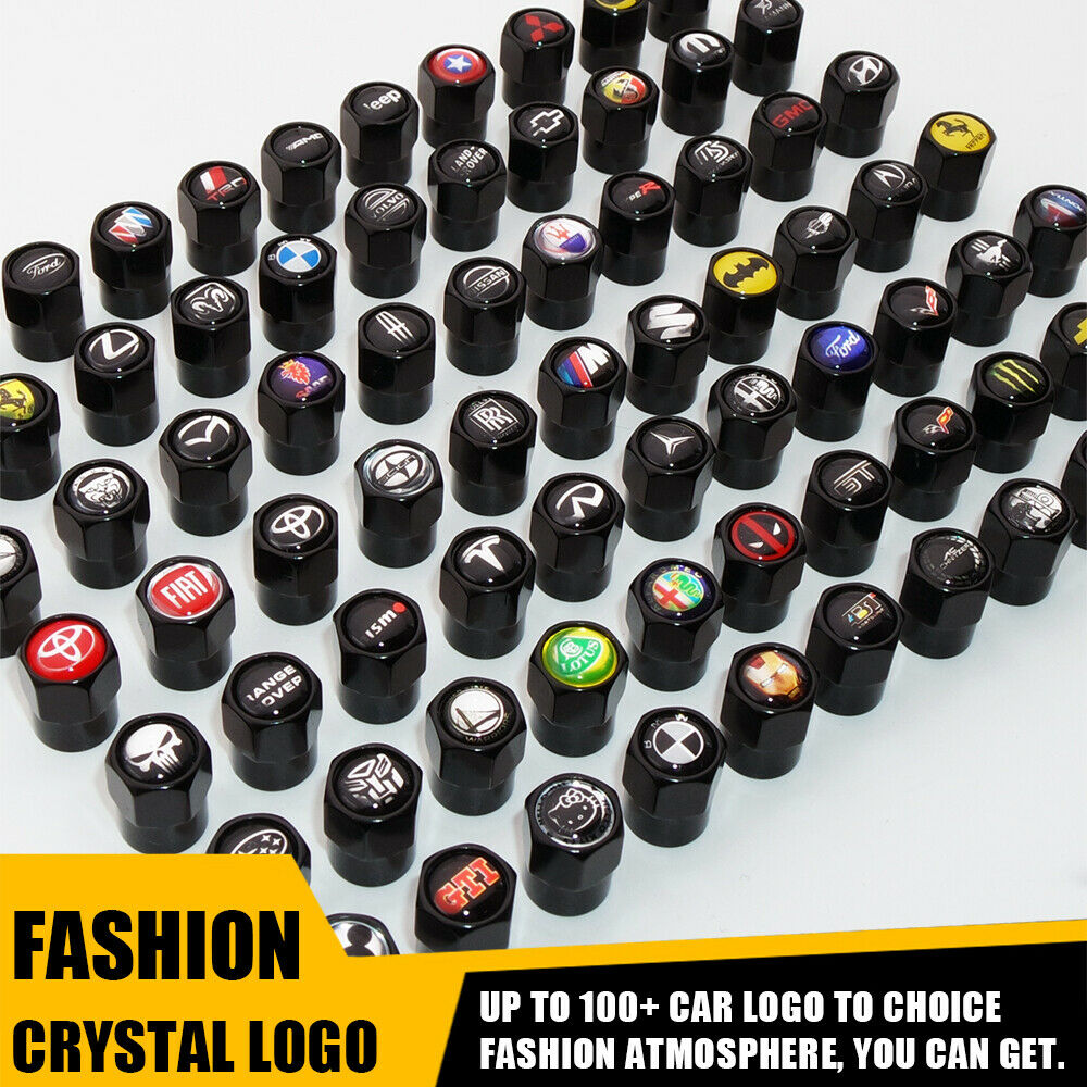 Black Hex Shape Ferrari S.p.A Logo Car Suv Wheels Tire Air Valve Caps Stem Cover - US85.COM