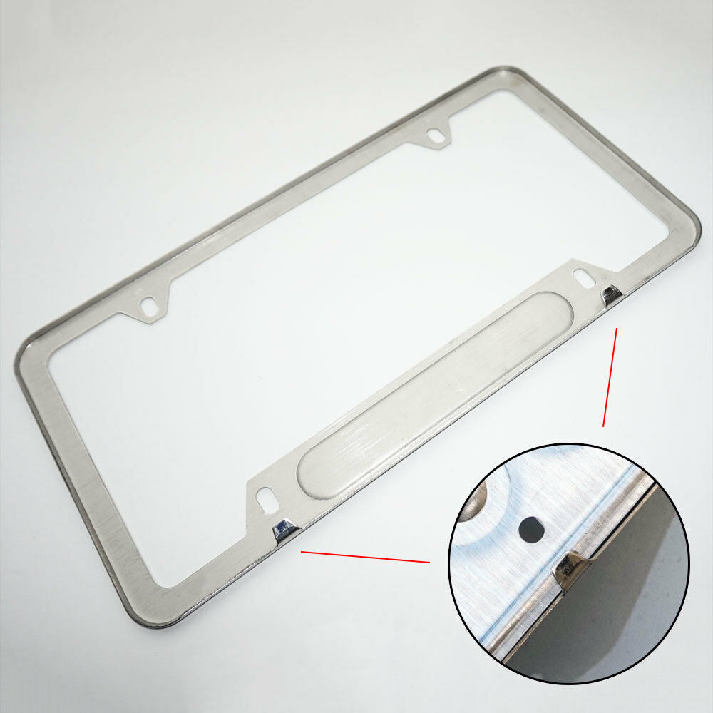 Chrome Stainless Steel Front Rear For Alfa Romeo License Plate Frame Cover Gift - US85.COM
