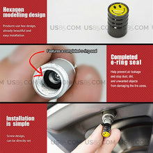 Load image into Gallery viewer, Black Chrome Wheel Tire Air Valve Caps Stem Valve Cover With Red Maserati Emblem - US85.COM