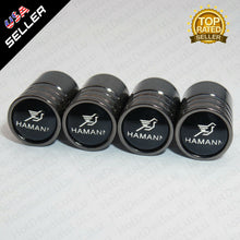 Load image into Gallery viewer, Black Chrome Wheel Tire Air Valve Caps Stem Valve Cover With Hamann Emblem - US85.COM