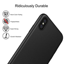 Load image into Gallery viewer, Case for Iphone X, 8/8 Plus, 7/7 Plus, 6/6 Plus, 6S/6S Plus Carbon Fiber Texture Ultra Thin Lightweight Flexible Cover Premium Soft Silicone Dustproof Cover Shockproof Anti-Scratch Cover - US85.COM