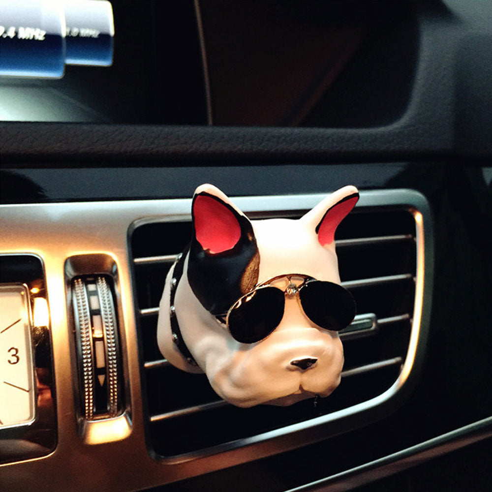 1Pcs Bulldogs Car Air Freshener Automobile Interior Perfume Vents Clip Fragrance Decoration Bull-dogs Ornaments Car Styling Accessories - US85.COM