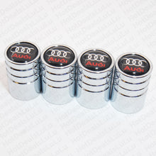 Load image into Gallery viewer, Silver Chrome Auto Car Wheel Tire Air Valve Caps Stem Cover With Audi Emblem - US85.COM