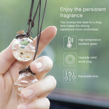 Load image into Gallery viewer, Fashion Decoration Car Rearview Mirror Hanging Perfume Pendant Bottle Air Freshener w/ Flower Essential Oils Diffuser for Auto Ornaments