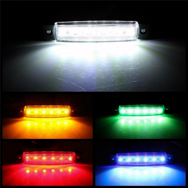 LED Lights Car External   12V/24V /6 SMD LED Auto Car Bus Truck Lorry Side Marker Indicator low Trailer Light Rear Side Lamp