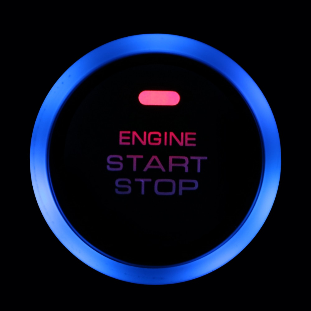 12V Safe Car Engine Start Stop Push Button Keyless Entry Ignition Starter Switch LED Light for Auto Replacement