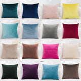 Cushion Cover Velvet Pillowcase Solid Color Pillow Case Decor Room Pillow Cover Decorative  Sofa Throw Pillows