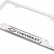 Load image into Gallery viewer, Mirror Chrome Stainless Steel Front Rear For Chevrolet Sport License Plate Frame Cover Gift - US85.COM