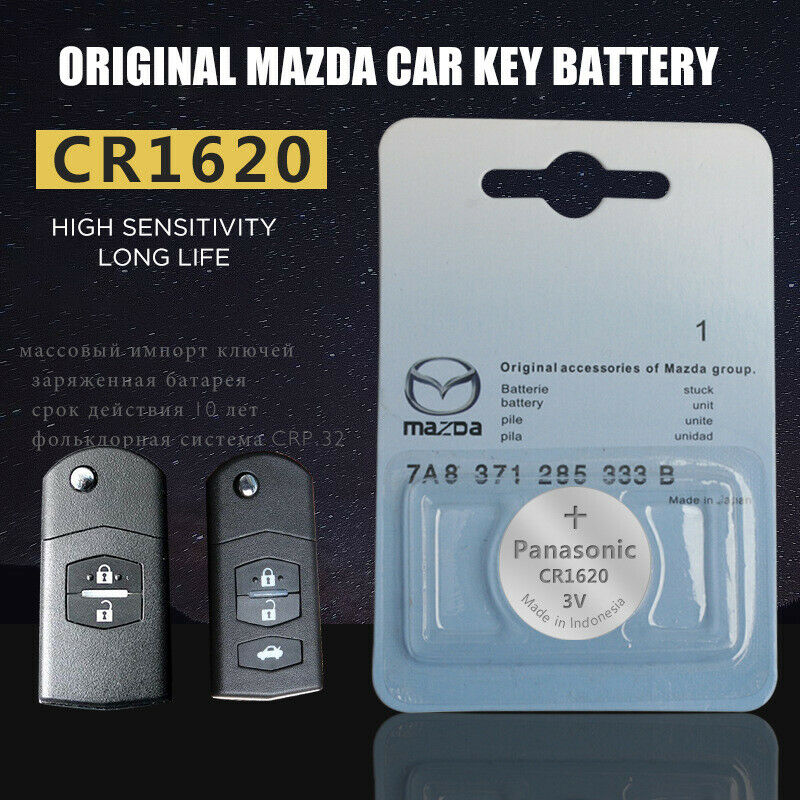 Genuine Lithium Coin Cell Battery For Mazda Car Key Fob Remote Replacement