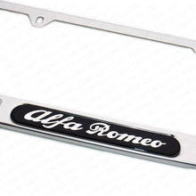 Load image into Gallery viewer, Miror Chrome Stainless Steel Front / Rear For Alfa Romeo Sport License Plate Frame Cover Gift - US85.COM