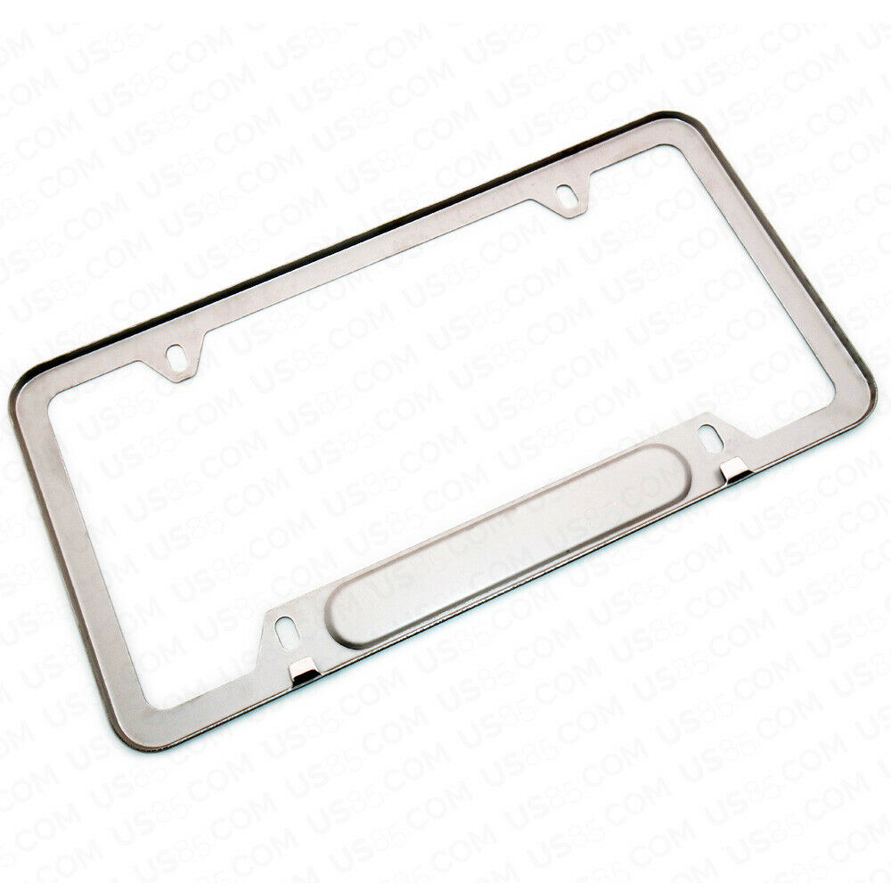 Mirror Chrome Stainless Steel Front Rear For Volvo Sport License Plate Frame Cover Gift - US85.COM
