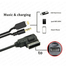 Load image into Gallery viewer, 6ft For Audi VW AMI Adapter for iPhone Lightning Charging & AUX Cable MMI MEDIA Music Interface - US85.COM