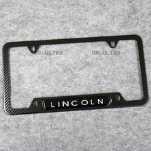 Load image into Gallery viewer, For Lincoln Sport Front or Rear Carbon Fiber Texture License Plate Frame Cover