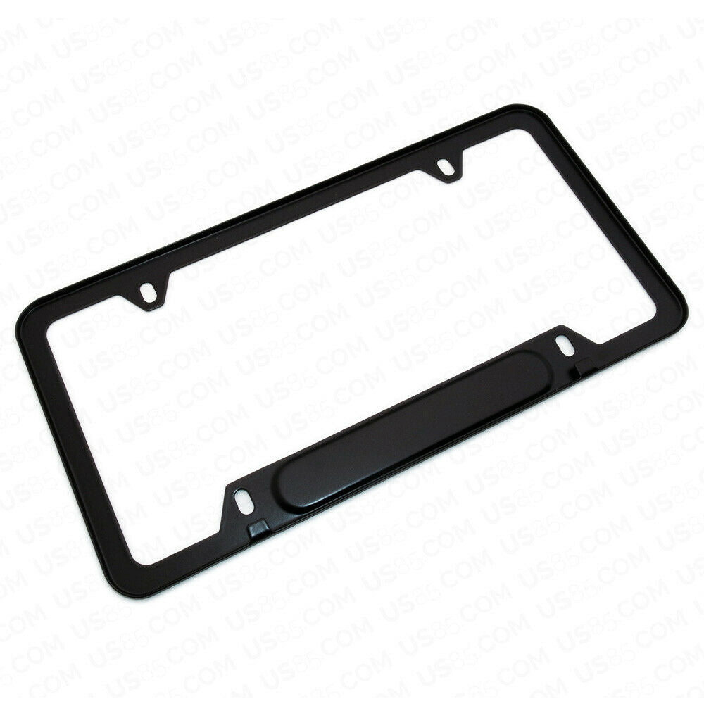 Black Stainless Steel Front Rear Audi RS Sport Emblem License Plate Frame Cover Gift - US85.COM