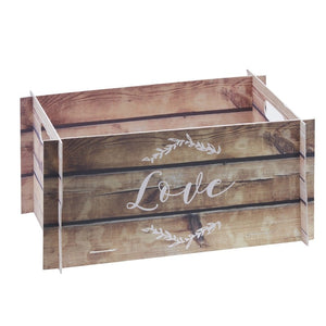 WOODEN EFFECT CARD CRATE