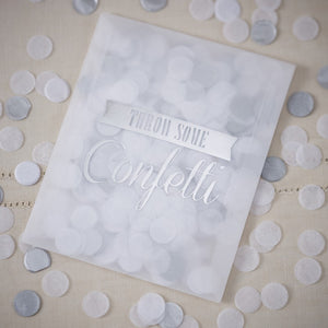 TISSUE CONFETTI ENVELOPES - SILVER