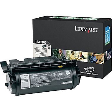12A7465 BLACK TONER (RETURN PROGRAM) YIELD 32,000 PAGES FOR T632, T634, X632