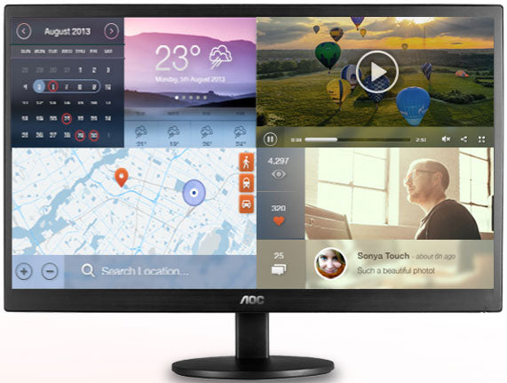 AOC 23.6' VA IPS-Type 5ms Full HD Monitor - 2HDMI/VGA, Tilt, VESA100, Speaker