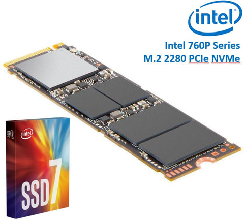 Intel 760P Series M.2 80mm 128GB SSD 3D2 TLC PCIe NVMe 3230/1625MB/s 340K/275K IOPS 1.6 Million Hours MTBF Solid State Drive 5yrs Wty | Afterpay with Oxipay