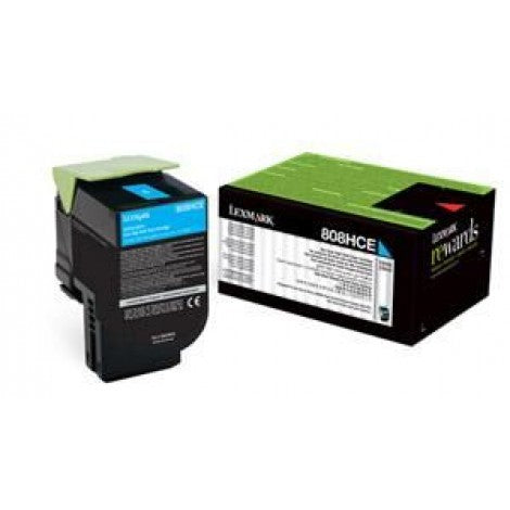 808HCE CYAN HIGH YIELD CORPORATE TONER CARTRIDGE 3K, CX410/CX510 | Afterpay with Oxipay