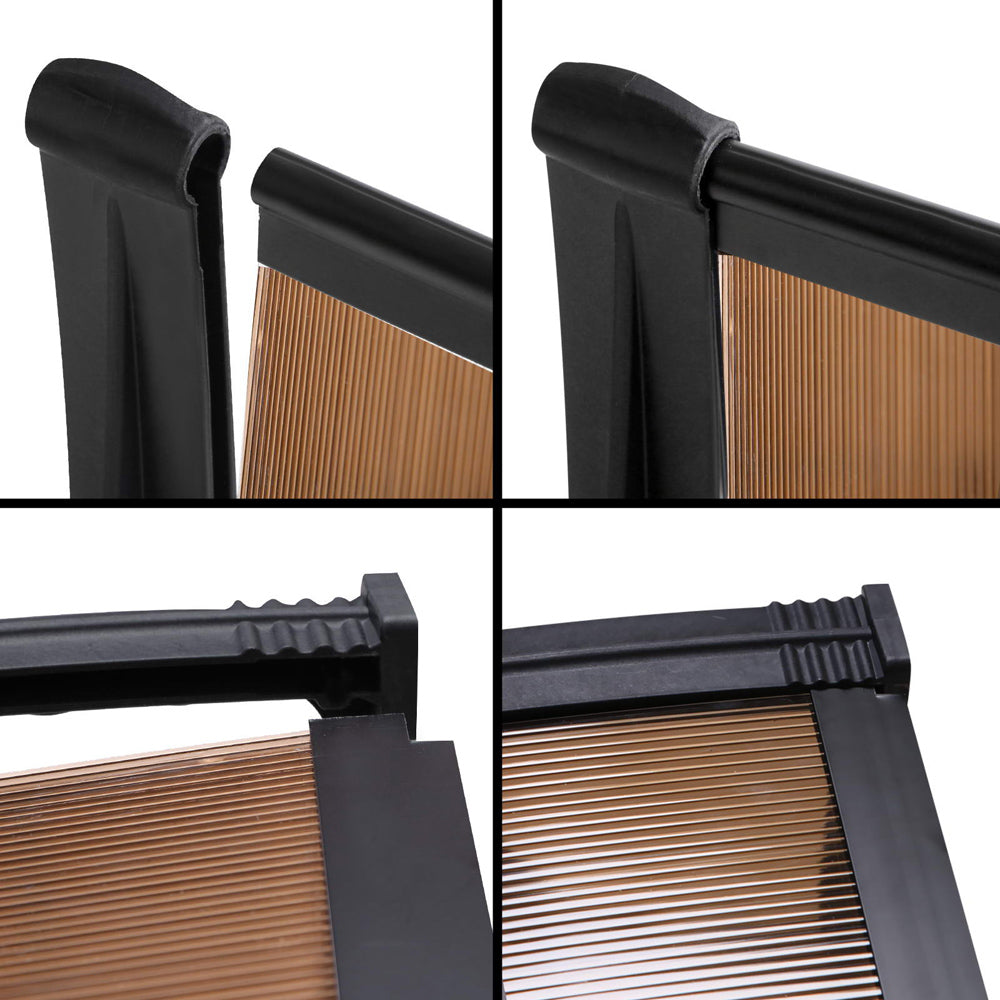 DIY Window Door Awning 1 x 3M - Brown
