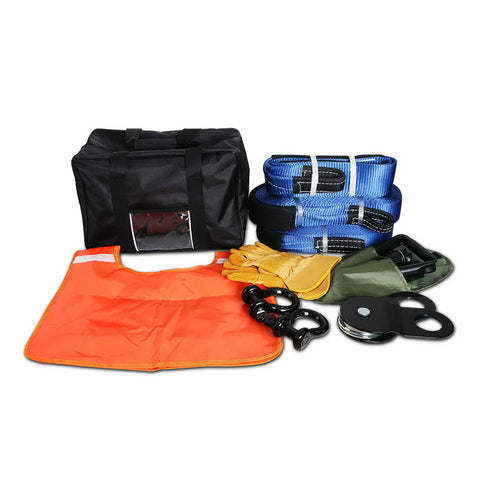 4WD Winch Recovery Snatch Straps Kit - Buy Now & Pay Later - Afterpay with ZipPay or Oxipay - Compurig