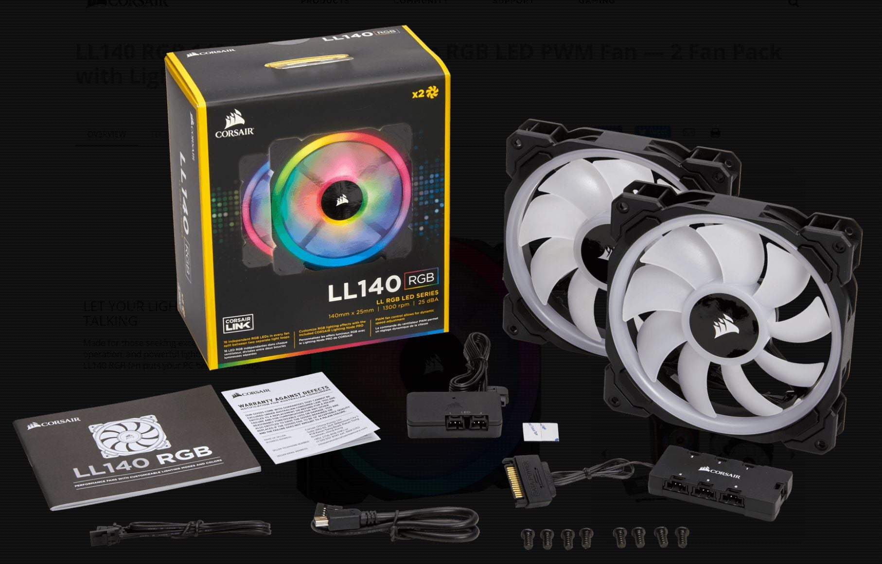 Corsair Light Loop Series LL140 RGB 140mm Dual LED PWM Fan