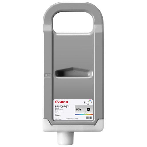 Canon PFI-706PGY LUCIA EX PHOTO GREY INK FOR IPF8300 IPF8400 - 70